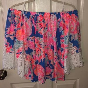 Lilly Pulitzer Off the Shoulder Top